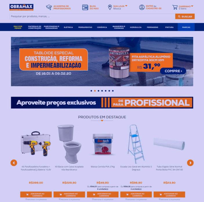 E-commerce de material de construção em Magento 2