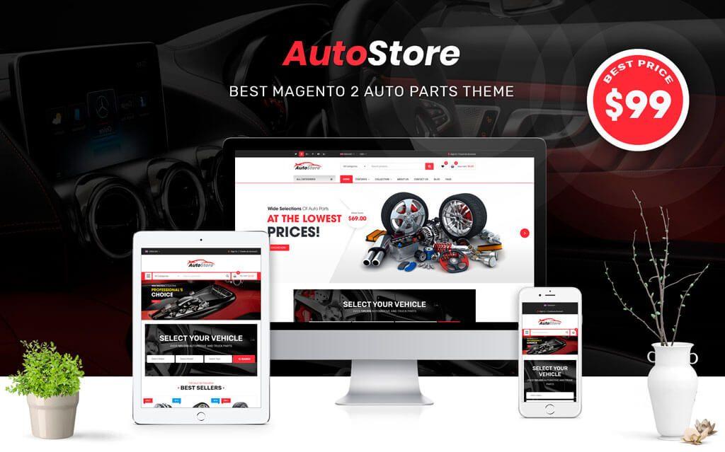 Tema Auto Store para Magento 2