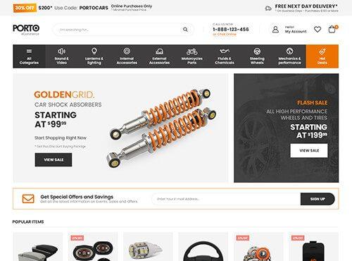 Tema para loja de peças e ferramentas